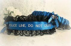 Police Wedding Garter Set - Police Line Do Not Cross - Personalized Ga – Creative Garters