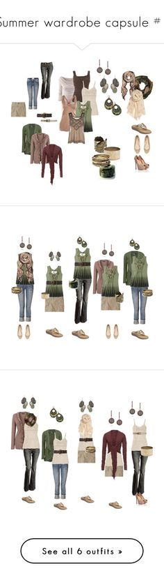 """""""Summer wardrobe capsule #1"""" by numinadea ❤ liked on Polyvore featuring Uniqlo, H&M, Phase Eight, Top Secret Society, French Connection, Alva-Norge, Lauren Ralph Lauren, Missoni, Annette Ferdinandsen and Tt Collection"""