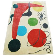 Abstract Rug/Tapestry in the Style of Joan Miró | 1stdibs.com