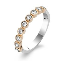 Mine ♡ - Ti Sento Ring Sterling Silver, Rose Gold & CZ #tisento #silver #ring #rosegold