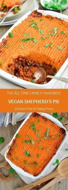 THE ALL TIME FAMILY FAVOURITE VEGAN SHEPHERD'S PIE (GLUTEN & DAIRY FREE)