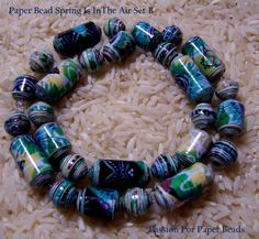 Paper Beads Spring Is In The Air Set B by PassionForPaperBeads