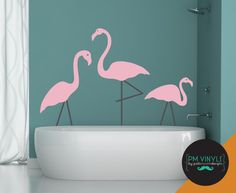 Plastic Pink Flamingo Vinyl Wall Decals are perfect for the Airstream!
