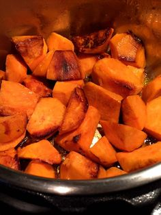 Instant Pot Roasted Sweet Potatoes Recipe – Famous Last Words Steamed Sweet Potato, Cooking Sweet Potatoes, Pressure Cooker Sweet Potatoes, Baked Potato, Roasted Potato Recipes, Sweet Potato Recipes, Instant Pot Pressure Cooker, Recipes, Finger Food