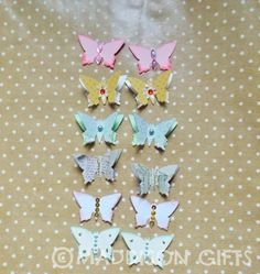 Mixed Butterfly Card Making Toppers Scrapbooking Embellishments Pretty Table Decorations Paper Craft Supplies by MaddycraftsCo on Etsy