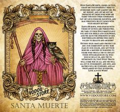 7-Day Candle Label - Santa Muerte (LGBT) I'm so grateful to The Vodou Store for making these labels and prayer cards available, showing the diversity of our Godmother.