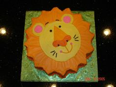 Lion Cake - This is one of my favorite cakes.  I made this cake for my son's 2nd birthday.  He loved it!