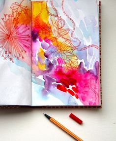 art journal spread