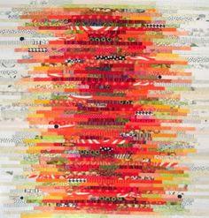 Karen Griska Quilts, Orange Stacks quilt. https://www.etsy.com/shop/KarenGriskaQuilts?ref=si_shop
