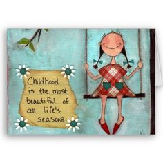 Childhood Greeting Card Design by DudaDaze http://www.zazzle.de/kindheit_karte_der_mutter_tages-137391656752175062?rf=238019012550410282