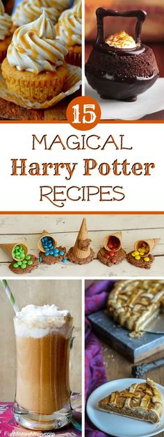 Harry Potter Recipes – Having a Harry Potter party? You'll want to serve some magical Harry Potter food! These Harry Harry Potter Snacks, Harry Potter Halloween, Gateau Harry Potter, Harry Potter Fiesta, Harry Potter Bday, Harry Potter Recipes, Harry Potter Cakes, Harry Potter Parties, Harry Potter Butterbeer