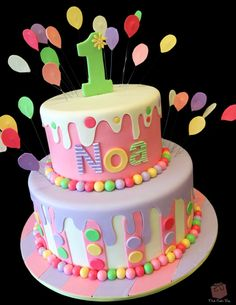 Mouth-Watering Drip Cake Ideas - Noa's 1st Birthday Cake