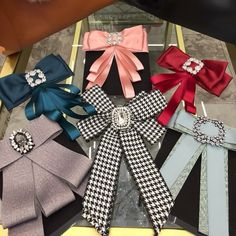 Diy Ribbon, Ribbon Crafts, Ribbon Bows, Making Hair Bows, Diy Hair Bows, Denim Earrings, Brooch Corsage, Women Bow Tie, Ribbon Jewelry