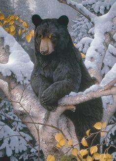 Black Bear in Snow 1000 Piece Puzzle