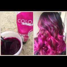 Beautiful pink ombre by Instagram hairdresser @stylesbynm. Click for Color Intensity formulas.  #ColorIntensity #pink
