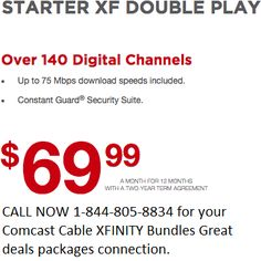HoustonTexasCable.US offers special Xfinity houston package deals. Call 1-844-805-8834 for more info about Xfinity TV, High Speed Internet cable.
