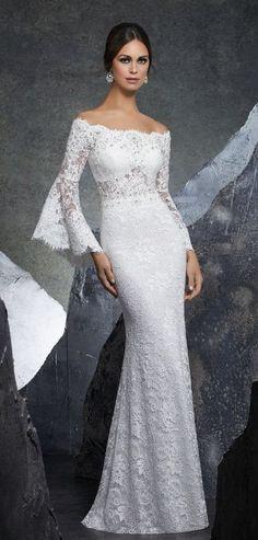 Courtesy of Morilee Wedding Dresses by Madeline Gardner Blu Collection; Wedding dresses ideas. #weddingdresses