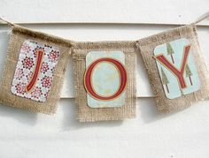 Burlap banner for an old fashion Christmas!