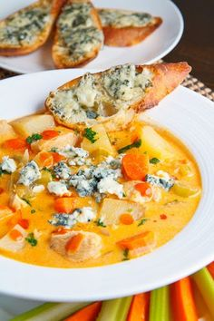 """Buffalo Chicken Chowder....I love all things with a """"wing"""" flavor, so I'm sure this is good too!"""