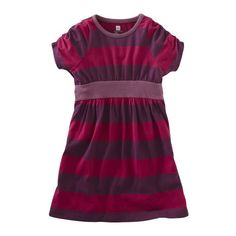 Tea Collection Girls Rohkea Stripe Banded Dress: Clothing