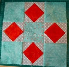 Peek-a-Boo Block | This easy quilt block design is perfect for using charm packs!