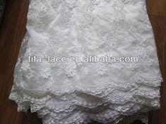 Beaded Lace Fabric   Tissu perlé blanc de lacet de robe de mariage-Tissus tissés-Id du ...