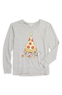 Ten Sixty Sherman Pizza Tree Graphic Sweatshirt (Big Girls) | Nordstrom