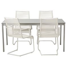 ENHOLMEN/ VÄSMAN Table and 4 chairs, light gray, white $318.96 Article Number:898.985.32