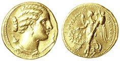 Greek Antique Gold coin.  More about #coins: http://sammler.com/coins/ Mehr über Münzen: http://sammler.com/mz/
