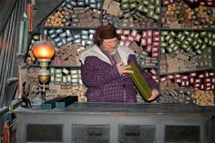 Would have got such a kick out of this when I was a kid - The wand keeper at Ollivanders Shop at The Wizarding World of Harry Potter.