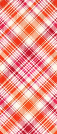 Joel Dewberry Tartan Tangerine Fabric in orange and pink $9.35 per yard