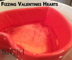Fizzing Baking Soda and Vinegar Valentines Hearts | Sick Science Steve Spangler Science