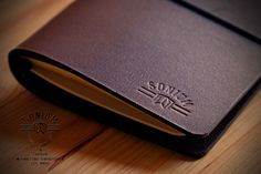 """""""SONIUM LEATHER"""" Leather Notebook Cover"""
