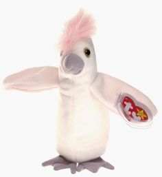 9823679ecb6 See more. KUKU TY Beanie Baby White Pink Cockatoo bird  Ty Beanie Baby  Collectors