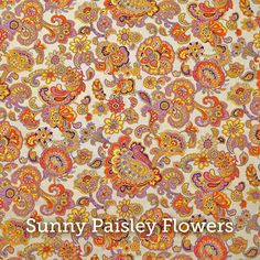 """Sunny Paisley Flowers Print  20x20"""" Pillow Case by SelemeHealth"""