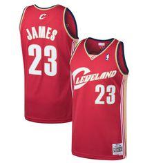 2305412eee0 LeBron James Cleveland Cavaliers Mitchell & Ness 2003-04 Hardwood Classics Swingman  Jersey - Wine. Nba ...