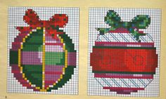 Christmas Ornaments in cross stitch