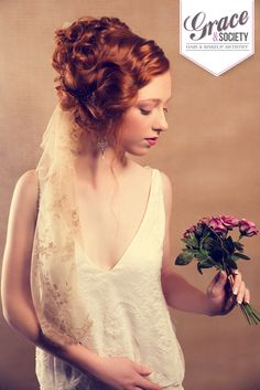 Beautiful red hair!! My favourite hair to work with. #vintageinspiredbride