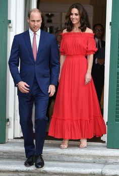 Kate Middleton's Off-The-Shoulder Red Alexander McQueen Dress Is Our Favourite Summer Look Yet