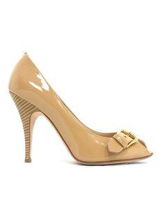 6734208aa97d Pre-owned Giuseppe Zanotti Patent Leather Peep-Toe Pumps. Luxury ShoesNude ClosetGiuseppe ...