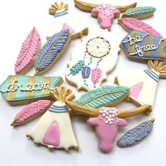 diy-bohemian-boho-cookies-festival-style-recipe-dream-catcher-feather-teepee-tipi
