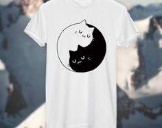 Yin & Yang Cat T-Shirt
