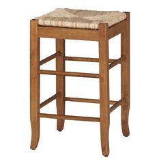 Rush Seat Stool - Oak