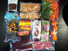 Paleo snacks for plane almond butter squeeze packs coconut butter squeeze packs cashews & macadamia nuts Larabars turkeys sticks (from Whole Foods) Paleonola dark chocolate snap peas & carrots Applegate Farms salami oranges Paleo Recipes, Real Food Recipes, Paleo Food, Airplane Snacks, Airplane Travel, Grain Free, Dairy Free, Healthy Travel Snacks, Clean Eating