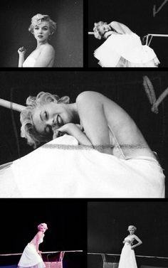 Marilyn Monroe. Ballerina sitting. Photos by Milton Greene, 1954.