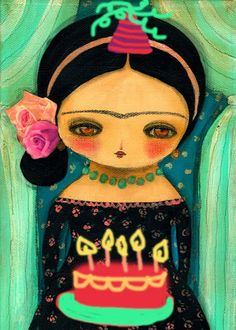 Danita Art: Before the day ends: Happy Birthday, Frida Kahlo!!!!