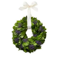 "Check out this item at One Kings Lane! 22"" Lavender & Bay Wreath, Jill Stuart"