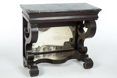 American Empire Mahogany Marble Top Console Table, circa 1825