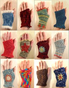 Maybe I can take the crochet squares my mom made (yesteryear) and turn them into these?