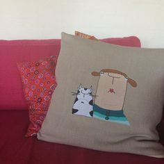 Personalized Pillow with embroidery  Custom made Pillow case
